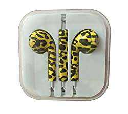 KARP Fancy Printed Designer Earphone for Apple iPhone/Android Mobiles/Tablets with Mic (Leopard Print)