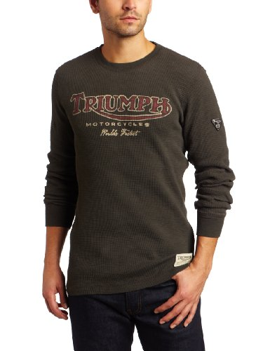 Lucky Brand Men 39 S Triumph Thermal Crew Tee Holiday Black