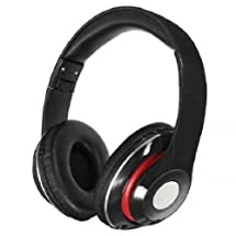 New Comfortable Colorful 3.5mm Foldable Stereo Headphone Black