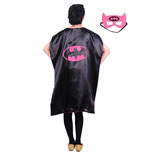 Adult Teen (43 in) Superhero Capes w/Mask (Batgirl)