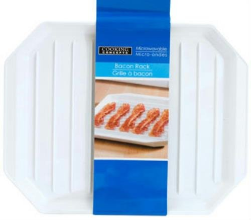 Cooking Concepts Microwavable Bacon Rack Dishwasher Safe Plate (Pack of 2)