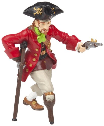 Papo Wooden Leg Pirate with Gun Toy Figure - 1