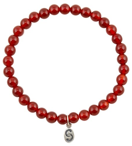 apoccas-semi-precious-crystal-bracelet-agni-carnelian-orange-red-6-mm-diameter-sterling-silver-tag-m