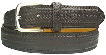 Brown Basket Weave Leather Belt (Large)