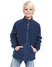 Borg-Lined Zip Through Fleece Top