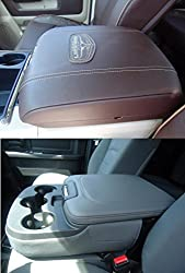 See DODGE RAM 2013 - 2015 Truck SUV Auto Center Armrest or Center console cover. THIS COVER FITS BOTH MODEL CONSOLES SEEN IN THIS PICTURE Details