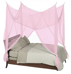 4 Poster Four Corner Hot Pink Bed Canopy