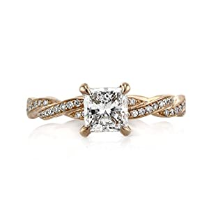 Mark Broumand 1.40ct Princess Cut Diamond Engagement Ring
