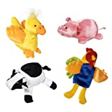 Barnyard Farm Knucklehead Finger Puppet Set Of 4