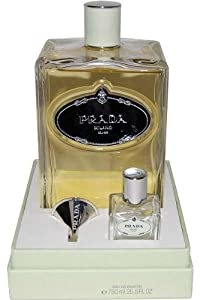 Prada Infusion D' Iris Perfume 3 Piece Gift Set for Women (Eau de Parfum, Funnel, Empty Refillable Bottle)