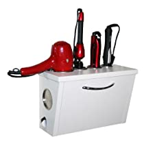 White,Blow Dryer, Curling Iron and Flat Iron Holder