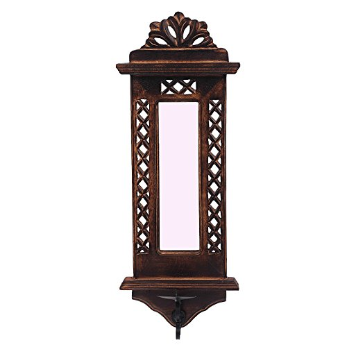 Fine Craft India MN wooden_mirror_frame_candle_holder
