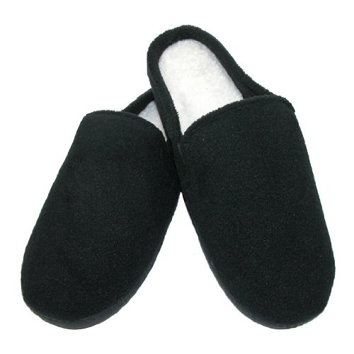 Men's Fleece Indoor/Outdoor Clog Slippers