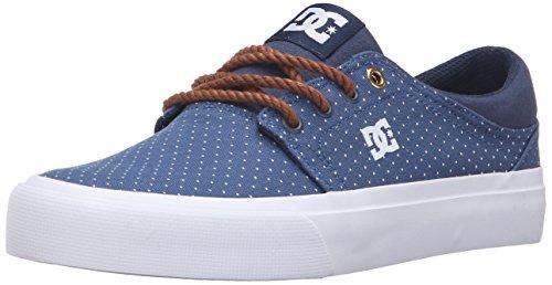 DC Trase TX SE Skate Shoe, Blue/Brown/White, 7 M US