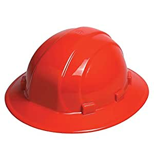 ERB 19914 Omega II Full Brim Hard Hat with Mega Ratchet, Red