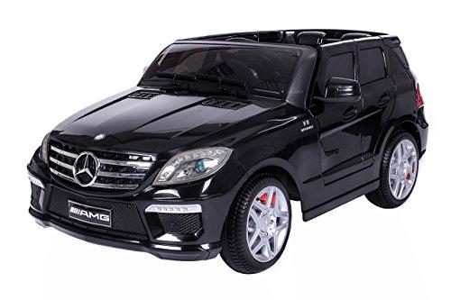 #moleo M00002864 – Mercedes ML 63 AMG Kinder Auto mit 2 Motoren MP3 Fernbedienung, schwarz#