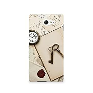 TAZindia Printed Hard Back Case Cover For Sony Xperia M2 S50H