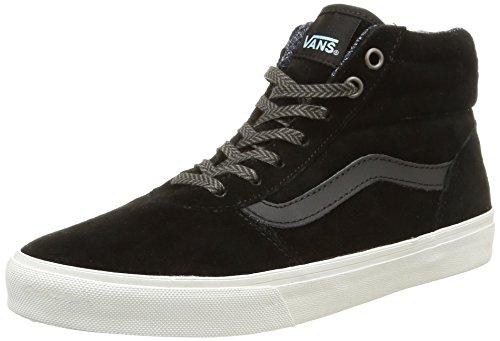 Vans - W Milton Hi Mte, Sneakers da donna, nero (mte/black/blanc de blanc), 40