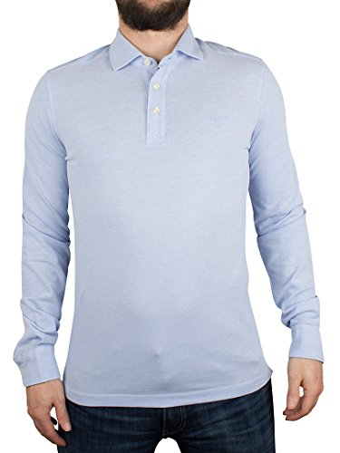 Gant Uomo Camicia Oxford Pique Rugger maniche lunghe Logo Polo, Blu, X-Large