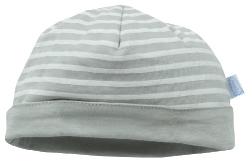 i play. Unisex-Baby Newborn Organic Reversible Twist Cap, Grey Stripe, Newborn/0-3 Months (Newborn Cap compare prices)