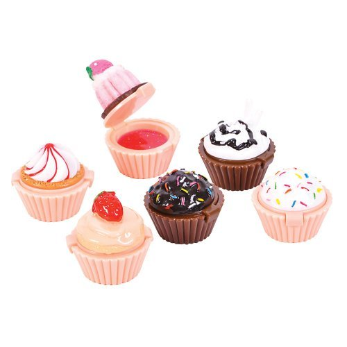 Cup Cake Lipgloss Party Favors 6 Pieces Assorted - 1