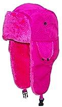 Best Winter Hats Lightweight Neon Russian/Trooper Faux Fur Hat(One Size)-Pink