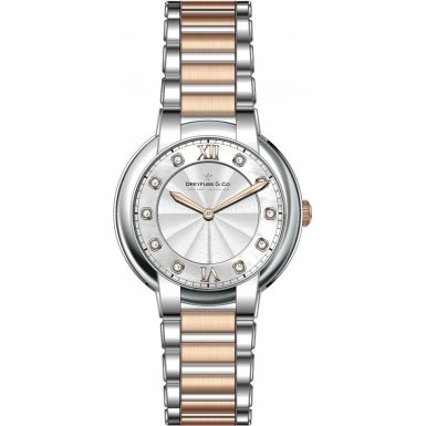 Dreyfuss and Co DLB00062-D-01 Ladies 1974 Diamond Set Two Tone Watch