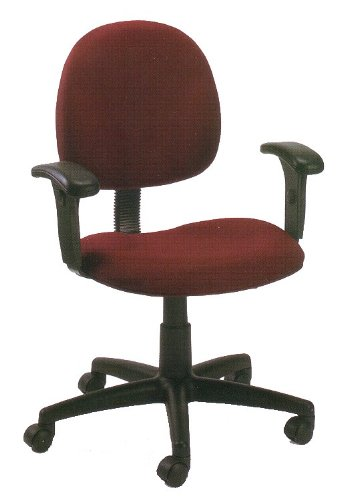Burgundy Fabric Mid-Back Ergonomic Office Task Chair