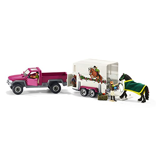 Schleich North America Pick Up with Horse Trailer Playset (Trailer Horse compare prices)