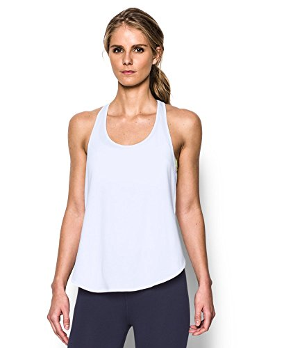 Under Armour Women's UA Essential Racer Tank X-Small White