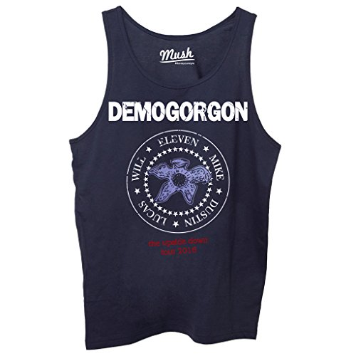 Canotta DEMOGORGON STRANGER THINGS MUSIC - FILM by Mush Dress Your Style - Donna-M-Blu navy