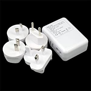 Multi Plug 4 Port USB AC adaptor Wall Charger for iPhone 3G 3GS 4G 4S iPad 1 2