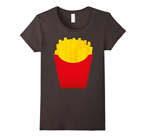 Women's French Fries Funny Costume Halloween T-Shirt - Unisex Medium Asphalt (French Fry Tshirt compare prices)