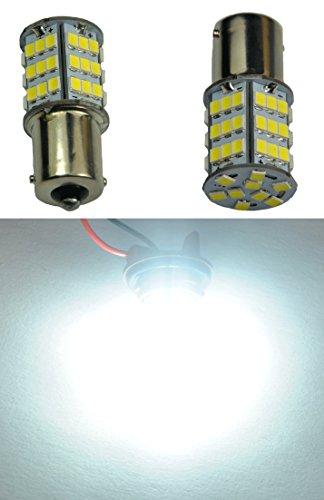 Cutequeen 2 X 1156 S25 Ba15s White 1350 Lumens Super Bright 54smd 54-smd 2835 Chipsets LED Car Lights Bulb Backup Signal Blinker Stop Brake Tail Light Bulbs 12v - White