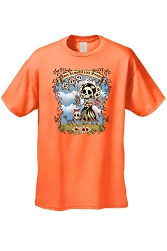 Men'S T-Shirt Amor Inmortal Para Siempre Sugar Skull Katrina Death Tee Unisex