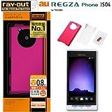 レイアウト REGZA Phone au by KDDI IS04用ラバーコーティングシェルジャケット/マットピンク RT-IS04C4/P