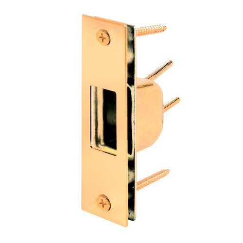 Prime-Line Products U 9539 Box Strike Plate, Brass Plated photo
