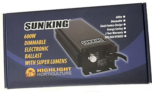 600w Sun king Dimmable electronic ballast with super lumens kit
