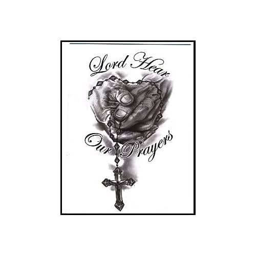 Amazon.com: Lord Hear Our Prayer Temporaray Tattoo