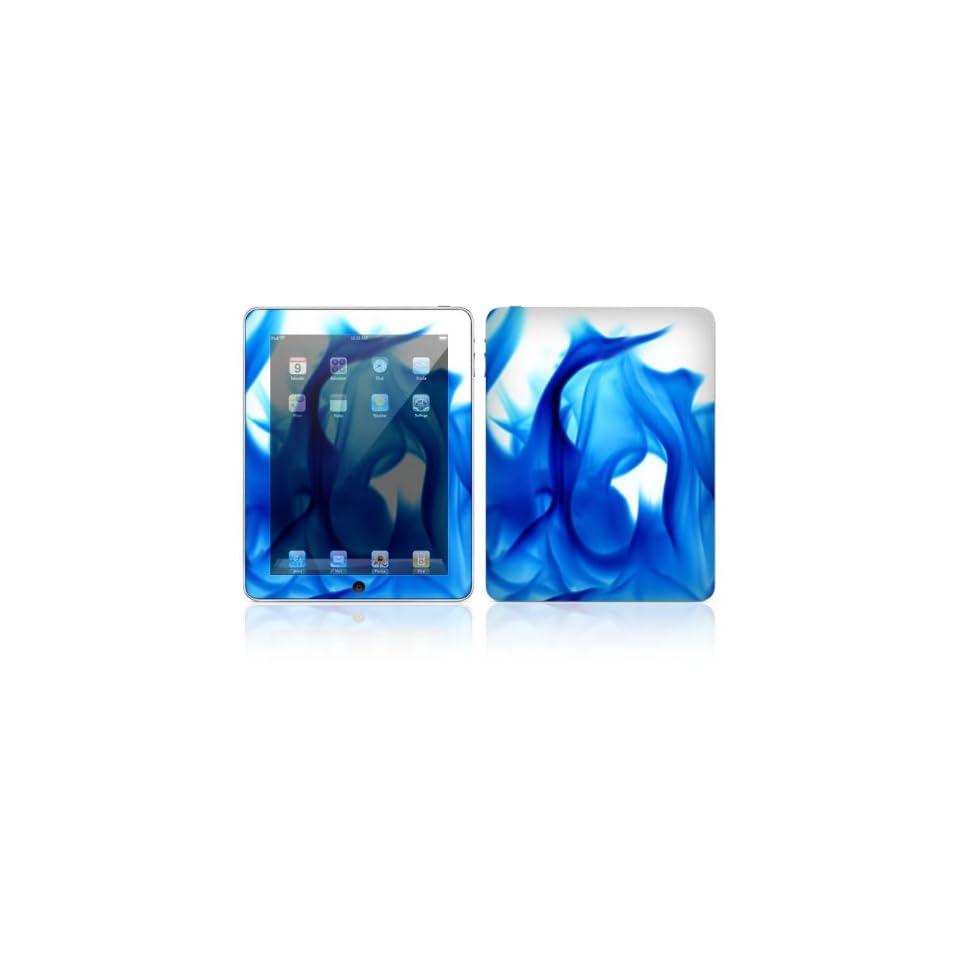 Blue Flame Design Skin Decal Sticker for Apple iPad Tablet E Reader