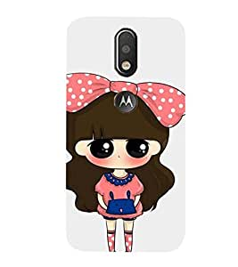 99Sublimation Cute Girl with Dotted Frock and Cack 3D Hard Polycarbonate Back Case Cover for Motorola Moto G4