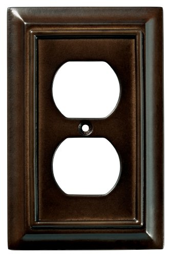 Brainerd 126340 Wood Architectural Single Duplex Outlet Wall Plate / Switch Plate / Cover, Espresso (Espresso Wall Plate compare prices)