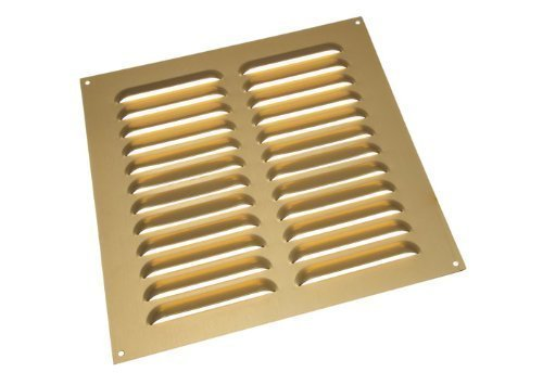 ALUMINIUM GOLD LOUVRE GRILLE VENT VENTILATION COVER 9 X 9 INCH ( ) by ONESTOPDIY.COM (Gold Vent Cover compare prices)