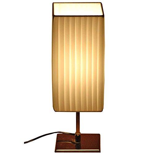 lounge-zone Designer Tischlampe Tazzini, Plissee, 43 cm, weiss PID 11702