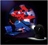 Mathmos Space Projector in Black with Blue / Red Lava Lamp Effect