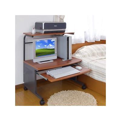 パソコンデスク ロータイプ ダークオーク木目柄 座デスク W750 100-DESK009 [PC]