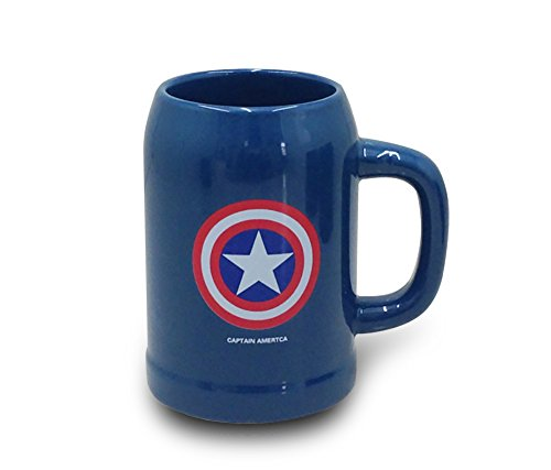 Finex Blue Captain America MARVEL Avengers Superhero Ceramic Coffee Mug Beer Mugs Water Tea Cup with handle ironman (Avengers Coffee Mug Set compare prices)