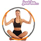 Just be... Wave Weighted Fitness Hula Hoop Abs Toning Exercise 1.2KG Foam Padded Workout Hoop