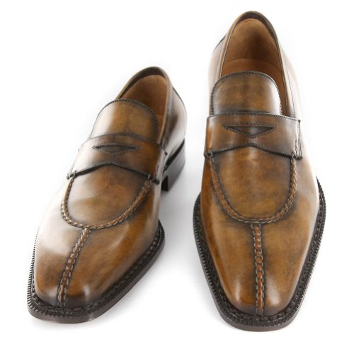 New Sutor Mantellassi Caramel Brown Leather Shoes 87 Cheap