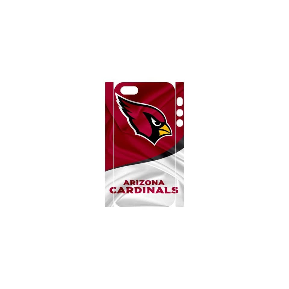 Custom NFL Arizona Cardinals Back Cover Case for iPhone 5 5S LL5S 528 Cell Phones & Accessories